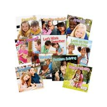 Teacher Created Resources Little World Social Skills Set of 10 Books Education Printed Book - Book