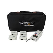 StarTech.com Professional RJ45 Network Cable Tester with 4 Remote Loopback Plugs - LAN Cable Tester Professional - Network testing device - Token Ring - 2 x RJ-45 Female