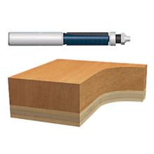 "Bosch Power Tools 85601M 1/2"" Templet/Trimming Router Bit 2-Flute Car"