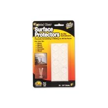 """Master Scratch Guard Crystal Clear Surface Protectors - 0.75"""" Diameter - Circle - Self-adhesive - Clear - 20/Pack"""