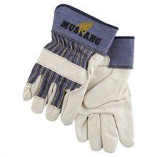 Memphis Glove 1935XL Mustang Grain Leather Palm Gloves W/2- (1 PR)