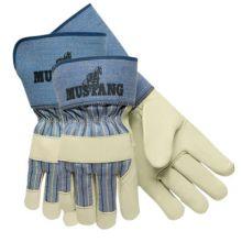 "Memphis Glove 1936L 4-1/2"" Gauntlet Mustangpremium Grain Leath (1 PR)"