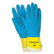Memphis Glove 5400S Size 10-28-Mil-Blue Neoprene Over Yellow Late (12 PR)
