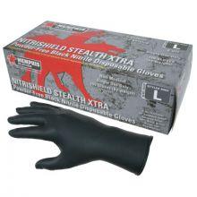 Memphis Glove 6062L Nitri-Stealth Xtra Blacknitrile L (100 EA)