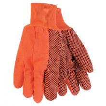 Memphis Glove 9018DO Orange Double Palm Dot K/W (1 PR)