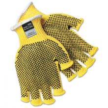 Memphis Glove 9369L Large Fingerless Pvc Dots Kevlar Plus Glove (12 PR)