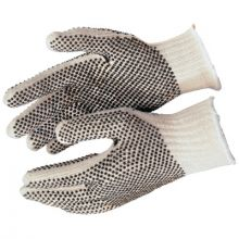 Memphis Glove 9660XLM Xl Cotton/Polyester Natural Pvc Dots Both Sides (1 PR)
