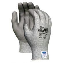 Memphis Glove 9676L Large Ultra Tech Dyneemastring Knit Glove Blk/W (12 PR)