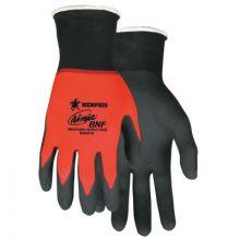 Memphis Glove N96970L Ninja Bnf 18 Ga  Red Nylon/Span Shell  Black Bre (12 PR)