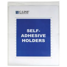 C-Line Products Inc. 70912 Self-Adh Vinyl Shop Ticket Holders 9 X 12- 50/Bx