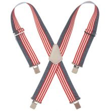 "Clc Custom Leather Craft 110USA Red-White-& Blue 2"" Widework Suspenders"