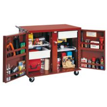 """Jobox 675990 Rolling Work Bench W/Two2-1/2""""D.Drawers&2Shelves"""