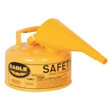 Eagle Mfg UI-10-FSY Safety Can Type 1 W/Fun1 Gal Yellow