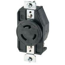 Cooper Wiring Devices CWL520R Recp Single 20A 125V 2P3W H/L Bk