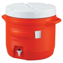 Rubbermaid Commercial 1655-01-11 7 Gal Orange Plastic Water Cooler 1655
