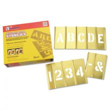 "C.H. Hanson 10071 2"" 45Pc Letter & Numberstencil Set Brass"