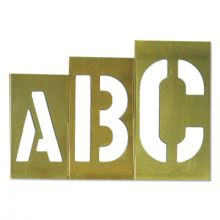 "C.H. Hanson 10165 8"" 33Pc Brass Letter Set-Gothic"