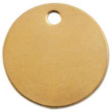 """C.H. Hanson 1078B 1"""" Round Brass Tag Blank18Ga. W/3/1 (1 EA)"""