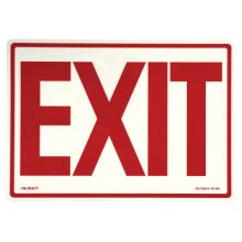 Jessup EG-7520-F-101-RP Peel And Stick Eg Sign Glow Background; Red Text