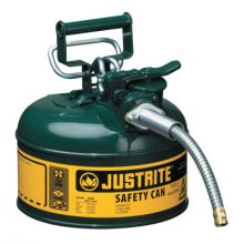 Justrite 7210420 1G Ii Safety Can W/5/8Inmetal Hose -Green