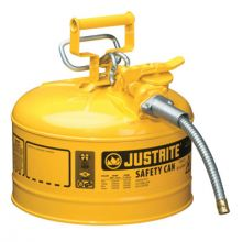 Justrite 7225220 25G Ii Safety Can W/5/8In Metal Hose-Yellow