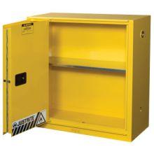 Justrite 893080 30 Gal Ylw Safety Cabinet 1-Sliding Door