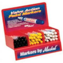 Markal 96811 Yellow Valve Action Paint Marker Display 24/Dsp