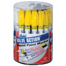 Markal 96080 Valve Action Paint Mkr Dsp 10Wht- 10Blk- 10Ylw