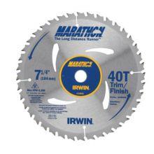 "Irwin Marathon 24031 7-1/4"" 40 Tooth Marathonplus Saw Blade (10 EA)"