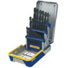 Irwin 3018004 29 Piece Drill Bit Industrial Set Case Blk Oxide