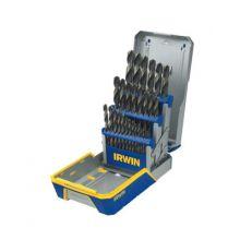 Irwin 3018005 29 Piece Drill Bit Set W/Case Black & Gold Oxide