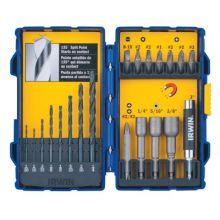 Irwin 357020 20 Piece Fdt & Drill Bitset