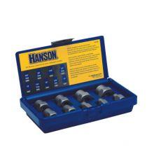 "Irwin Hanson 54009 9 Piece Bolt Extractor Set 1/4-3/4"" W/3/8"" Drv"