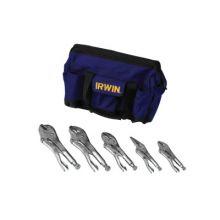 Irwin Vise-Grip 2077704 5Pc Locking Plier Set W/Nylon Bag