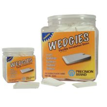 Precision Brand 48805 The Wedgie - White Flexible Shim - 200 Pieces