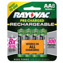Rayovac LD715-8OP-GEND Recharge Aa 1 350Mah Batteries Nihm (Ea=8Pk)