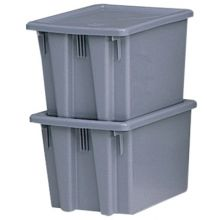Rubbermaid Commercial 1721-GRAY 1.3Cu.Ft. Palletote Boxgray  19-1/