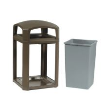 Rubbermaid Commercial 3975-01-SBLE 45-Gal. Sable Landmark Series Container D