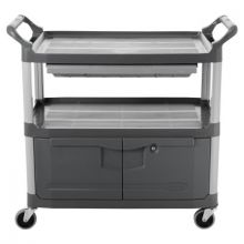 Rubbermaid Commercial 4094-GRAY 300Lb. Cap. X-Tra Instrument Cart-W/Lock