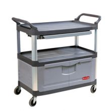 "Rubbermaid Commercial 4095-BLA X-Tra Equip Cart 40-5/8""X20-3/4""X37-7/8"