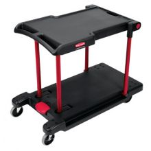 Rubbermaid Commercial 4300-BLA 4300 Convertible Utilitycart Black