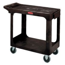 Rubbermaid Commercial 4505-BLA 500 Lb Capacity Flat Shelf Cart Black