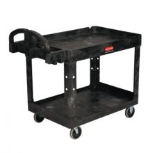 Rubbermaid Commercial 4520-88-BLA 500 Lb 2 Shelf Utilty Cart 45-1/4X25-7/8X33-1/4""