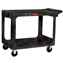 Rubbermaid Commercial 4545-BEIG Hd Flat 2 Shelf Utilitycart Large