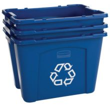Rubbermaid Commercial 5718-73-BLUE 18 Gal Recycling Box