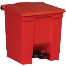 Rubbermaid Commercial 6143-RED 8-Gal Step-On Trash Container