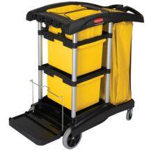 Rubbermaid Commercial 9T73 Black Microfiber Janitorcart