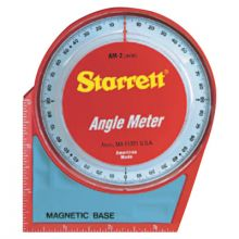 "L.S. Starrett 36080 Am-2 Angle Meter- 5""X5""Magnetic Base And Back"
