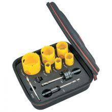 L.S. Starrett KDC06041-N Dch Plumbers Kit A W/6 Holesaws & 4 Accessories