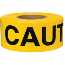 Presco B3102Y16 Caution- Yellow 2Mil (8 RL)